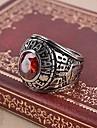 Inel Inele Afirmatoare Roșu-aprins imitare Ruby Piatră Preţioasă Cross Shape Pietrele Lunilor Rosu Bijuterii