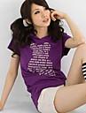 scrisori de imprimare model de moda capișon t-shirt violet