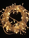z®zdm 10m 9.6w de Crăciun bliț 100-a condus rece lampă alb cald / alb benzi de lumină de lumină (ue priza, AC 220v)