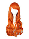 Cosplay Peruker One Piece Nami Orange Medium Animé Cosplay Peruker 65 CM Värmebeständigt Fiber Kvinna