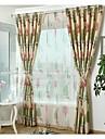 Deux Panneaux Rustique / Moderne / Neoclassique / Mediterraneen / Europeen Floral / Botanique Comme image chambre d\'enfants Polyester