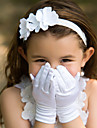 Wrist Length Fingertips Glove Satin Flower Girl Gloves Spring / Summer / Fall / Winter White / Ivory