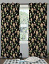 Country  Designer Two Panels Floral  Botanical Multi-color Bedroom Polyester Panel Curtains Drapes