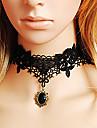 Smycken Klassisk/Traditionell Lolita Halsband Victoriansk Svart lolita tillbehör Halsband Enfärgat / Spets För Dam Spets / Konstädelstenar