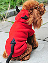 Pisici / Câini Costume / Hanorace cu Glugă Roșu Îmbrăcăminte Câini Iarnă / Primăvara/toamnă Înger & Demon Drăguț / Crăciun / Anul Nou