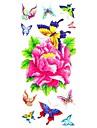 #(1) - Series de fleur - Multicolore - Motif - #(18.5*8.5) - Tatouages Autocollants Homme/Girl/Adulte/Adolescent