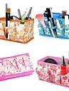 Sminkförvaring Kosmetisk påse / Sminkförvaring Blomma 18x10x9.7 Brun / Orange / Vit