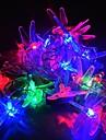 jiawen® 4m 20leds RGB LED trollslända sträng lampor jul sträng ljus för dekoration (ac 110-220V)