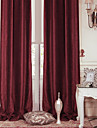 twopages® två paneler modern röd fast energibesparing gardin drapera