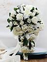 Flori de Nuntă Formă liberă Cascadă Trandafiri Buchete Nuntă Petrecere / Seară Spumă