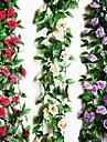 Une succursale Polyester Plastique Roses Fleur de Table Fleurs artificielles 240 x 15 x 15(95\'\' x 5.9\'\' x 5.9\'\')