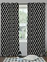 Două Panouri Tratamentul fereastră Designer  Dormitor Poliester Material perdele, draperii Pagina de decorare For Fereastră