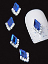 10pcs marquise 3d bleu strass bricolage accessoires en alliage nail art decoration