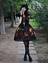 Retro Oil Painting Flower Girl Short Sleeve Knee-length Gothic Lolia Dress OP