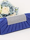 Mandy® Fashion And Elegant Silk Drape Artificial Diamonds Clutches & Evening Bags