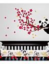 stickers muraux autocollants de mur, panda de bande dessinee et arbre fleur de mur de PVC autocollants