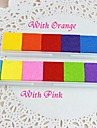 6 Colors Rainbow Inkpad Stamps for Fingerprint Scrapbook Painting Wedding Baby Shower Return Gift Present Favors