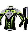 FJQXZ® Cykeltröja och tights Herr Lång ärm Cykel Andningsfunktion / Snabb tork / Ultraviolet Resistant / 3D PadCykling Tights /