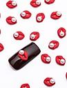 10st vita nail art pärla smycken glittrig metallic röd smycken för diy nageldesign