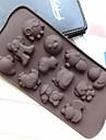 hai bao form tårta mögel is jelly choklad mögel, silikon 21,2 × 10,5 × 1,5 cm (8,3 × 4,1 × 0,7 tum)