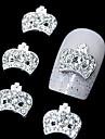 10pcs couronne en strass 3d bricolage accessoires en alliage nail art decoration