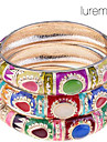 lureme®thailand estilo colorido opala pulseira (cor aleatoria)