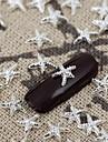 50pcs silver metallic lysande stjärna nail art legering smycken spik tips vernish manikyr dekorationer