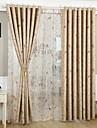 Två paneler Medelhavet / Rustik / Nyklassisistisk / Europeisk / Modern Blommig/Botanisk Grön / Gul Living Room PolyesterBlackout Gardiner