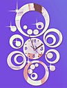 """20 """"h modern stil runda cirklar 3d diy akryl spegel väggklocka"""