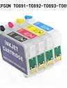 Bloom Epson T0891 / T0892 / T0893 / T0894 cartouche d\'encre rechargeable pour Epson Stylus S20 / S21 / SX100 / SX105 / SX115 / SX110 / SX210
