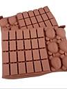 30 håls gitter björnform tårta is gelé choklad formar, silikon 18 × 12,5 × 2 cm (7,1 × 4,9 × 0,8 tum)