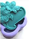 fleurs shaoed outils fondant gateau au chocolat en silicone moule a cake de decoration, l9.5cm * * w8.6cm h3.5cm