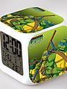 ninja turtles 7 färgförändring digital väckarklocka ledde nattlampa för barn
