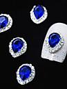 10st safirglas med strass linjelegering vattendroppe finger tips nagel konst dekoration