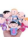 familjemedlemmar baby fingerdockor barn berättar historier hjälpare stoppade plyschdockor