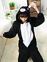 Kigurumi Pyjamas Katt Leotard/Onesie Festival/Högtid Animal Sovplagg Halloween svart Lappverk Polar Fleece Kigurumi För UnisexHalloween /
