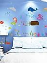 Wall Stickers väggdekaler, undervattensvärlden pvc väggdekorationer