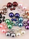 Dame Cercei Stud Perle Reșină Bijuterii Pentru Nuntă Petrecere Zilnic Casual Sport