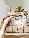 sensleep® 3st handdukar Pack, ljusbrun eller lvory geometrisk design 100% bomull handduk