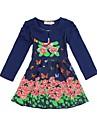 Fata lui Albastru / Violet / Galben Floral Amestec Bumbac Toamnă / Primăvară Albastru / Violet / Galben