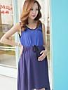 femeile gravide de vară chiffon fusta nou împletit călatorii tricotate rochie de vară