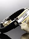 Brățări Bratari din piele Piele  Oțel titan Placat Auriu Cross Shape Nuntă Petrecere Zilnic Casual Sport Bijuterii CadouAuriu Negru