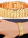 plaque de fantaisie fleurs chaudes bracelet en or 18 carats reelle platine chaine trapu bracelet bracelet pour les femmes de haute qualite
