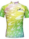 JESOCYCLING Maillot de Cyclisme Femme Manches courtes Velo Maillot Hauts/Tops Sechage rapide Respirable Antiderapage 100 % Polyester