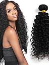 24inches bresilien cheveux boucles vierge non traitee bresilien crepus boucles vierge naturl de cheveux noirs 1pcs / lot