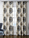 Two Panels  Perfectly Symmetrical Pattern Curtain
