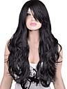 capless perruque noire extra long de haute qualite naturelle boucles synthetique