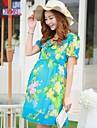 femeile gravide maternitate de moda coreeană sifon gravidă rochie de maternitate fusta falbala rochie