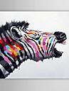 oljemålning modern abstrakt zebra handen målade med sträckt ram