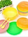 söta hamburgare form Lanch lådor, plast 14 × 9,5 × 8,5 cm (5,6 × 3,8 × 3,3 tum)